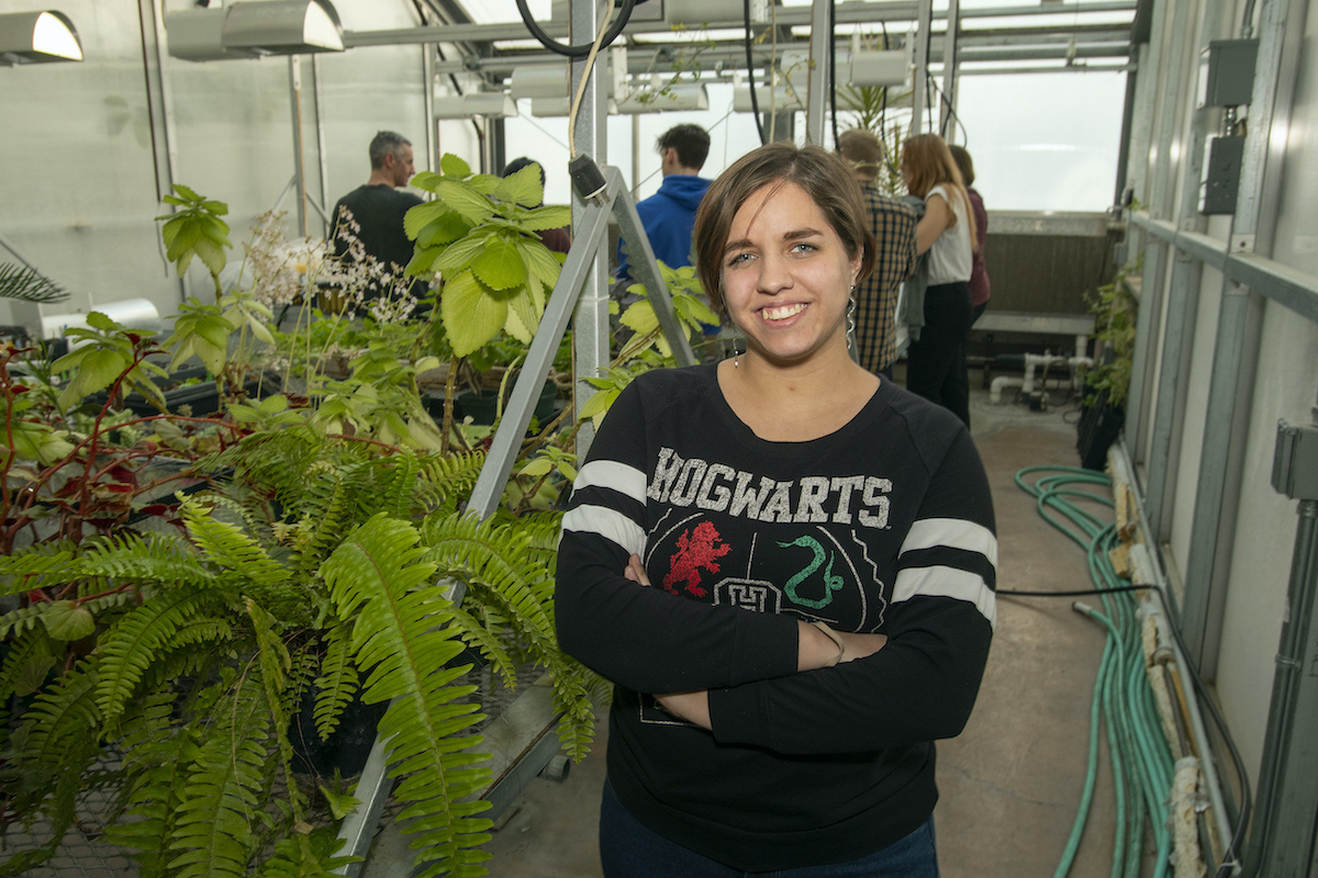 Ruth Andrews, in VIP class offered in ISU Associate Professor Keith Reinhardt's Lab of Plant Physiological Ecology.